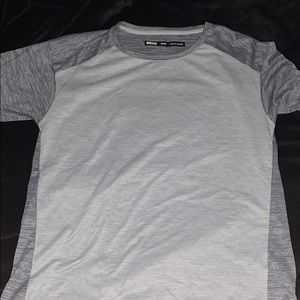 grey short sleeve rei shirt